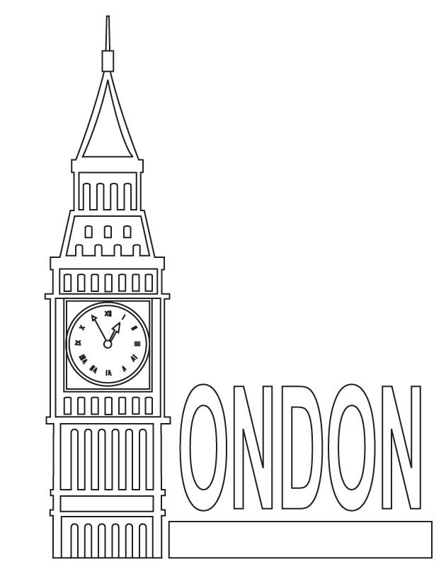 Big Ben coloring #15, Download drawings
