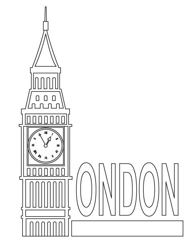 Big Ben coloring #6, Download drawings