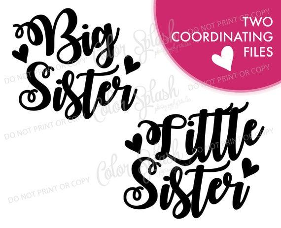 big sister little sister svg #744, Download drawings