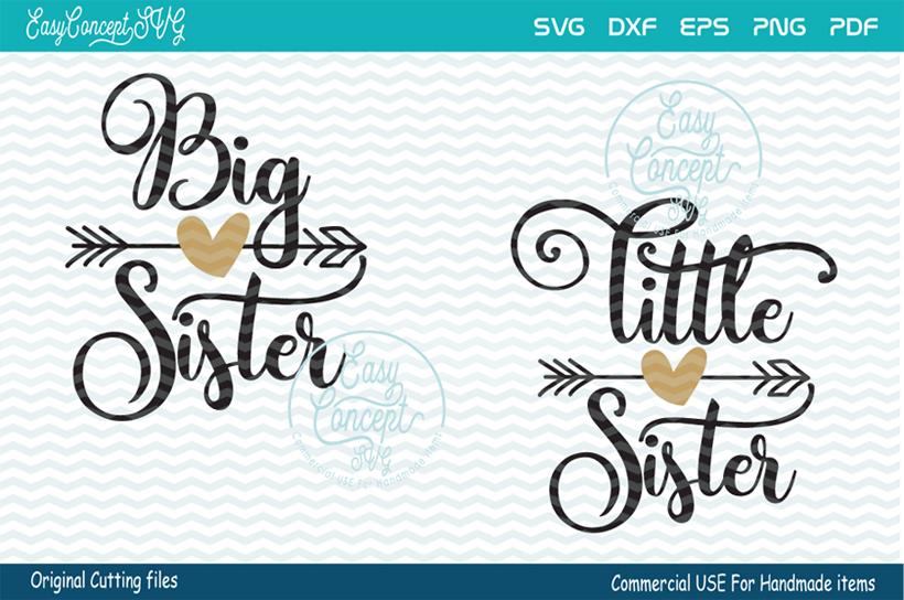 big sister little sister svg #741, Download drawings