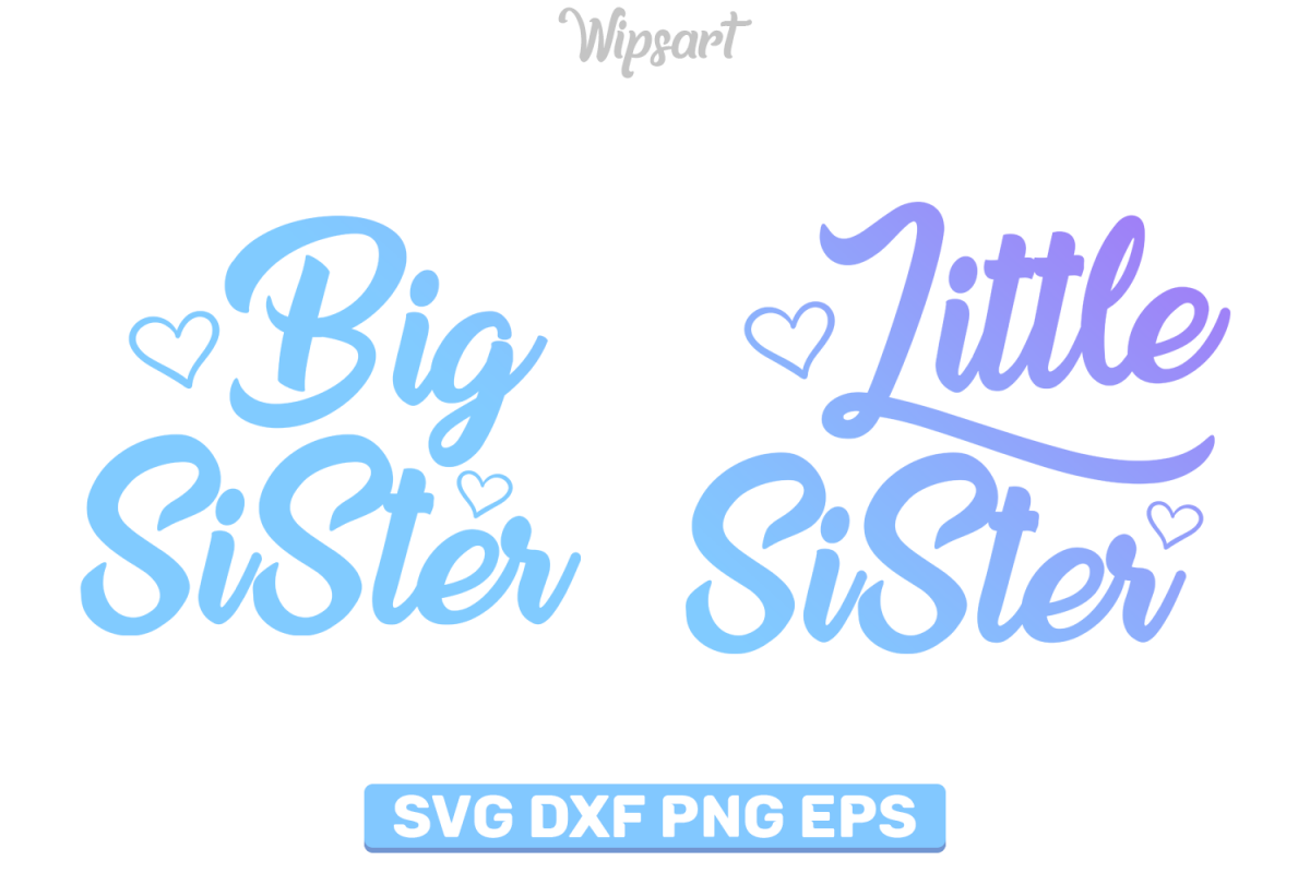 big sister little sister svg #745, Download drawings