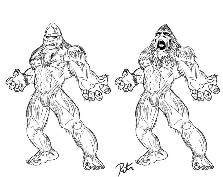 Bigfoot coloring #13, Download drawings
