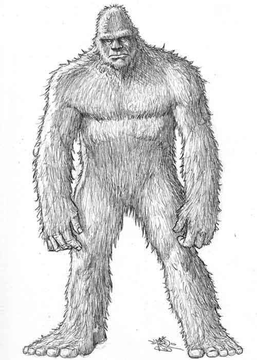 Bigfoot coloring #9, Download drawings