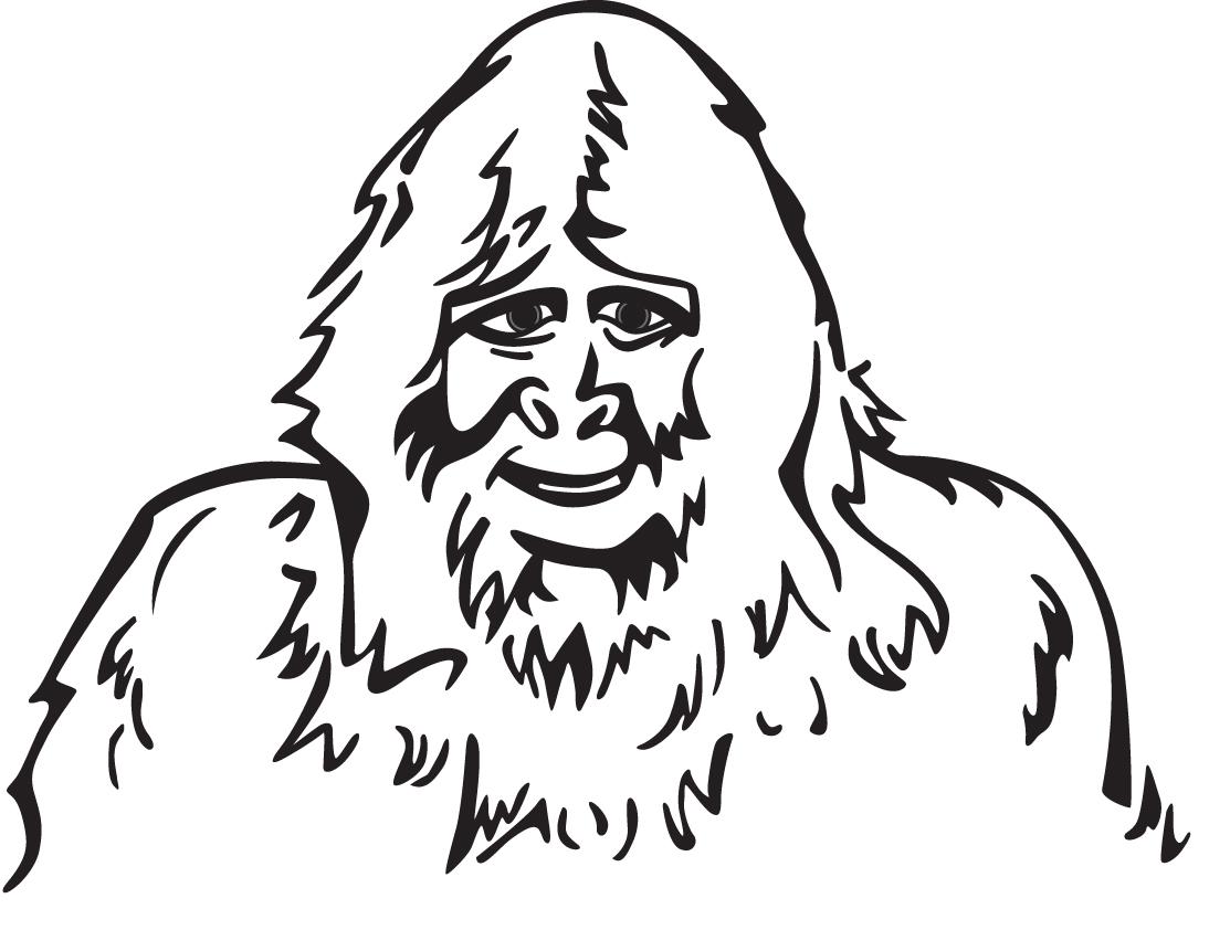 Bigfoot coloring #3, Download drawings