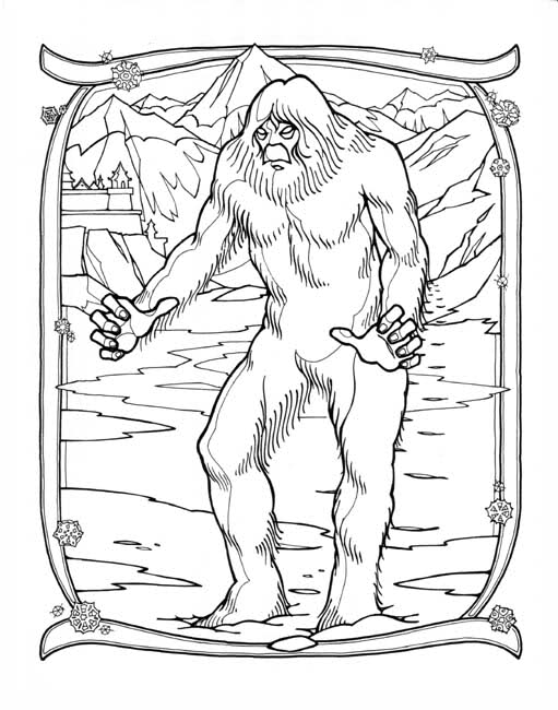 Bigfoot coloring #7, Download drawings