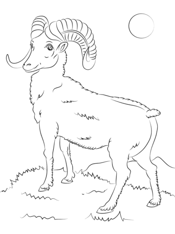 Bighorn Sheep coloring #19, Download drawings