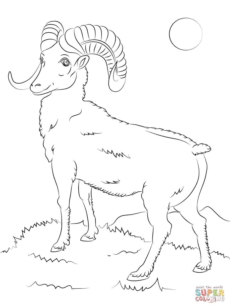 Bighorn Sheep coloring #13, Download drawings