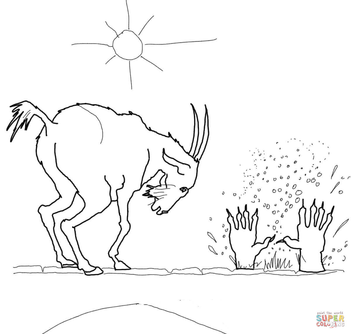 Billy Goat coloring #4, Download drawings