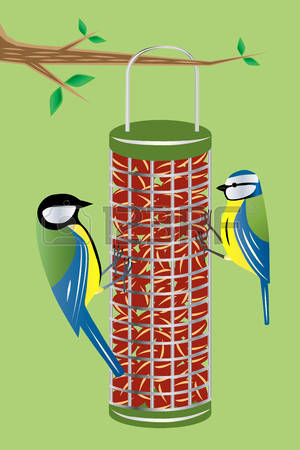 Birdfeeding clipart #3, Download drawings