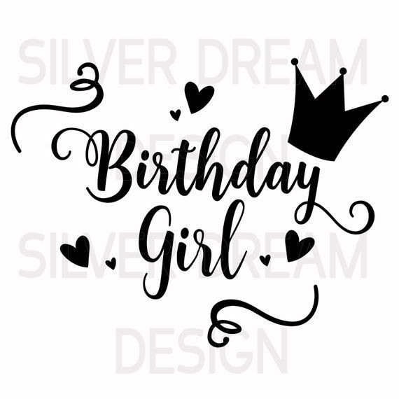 birthday girl svg #676, Download drawings