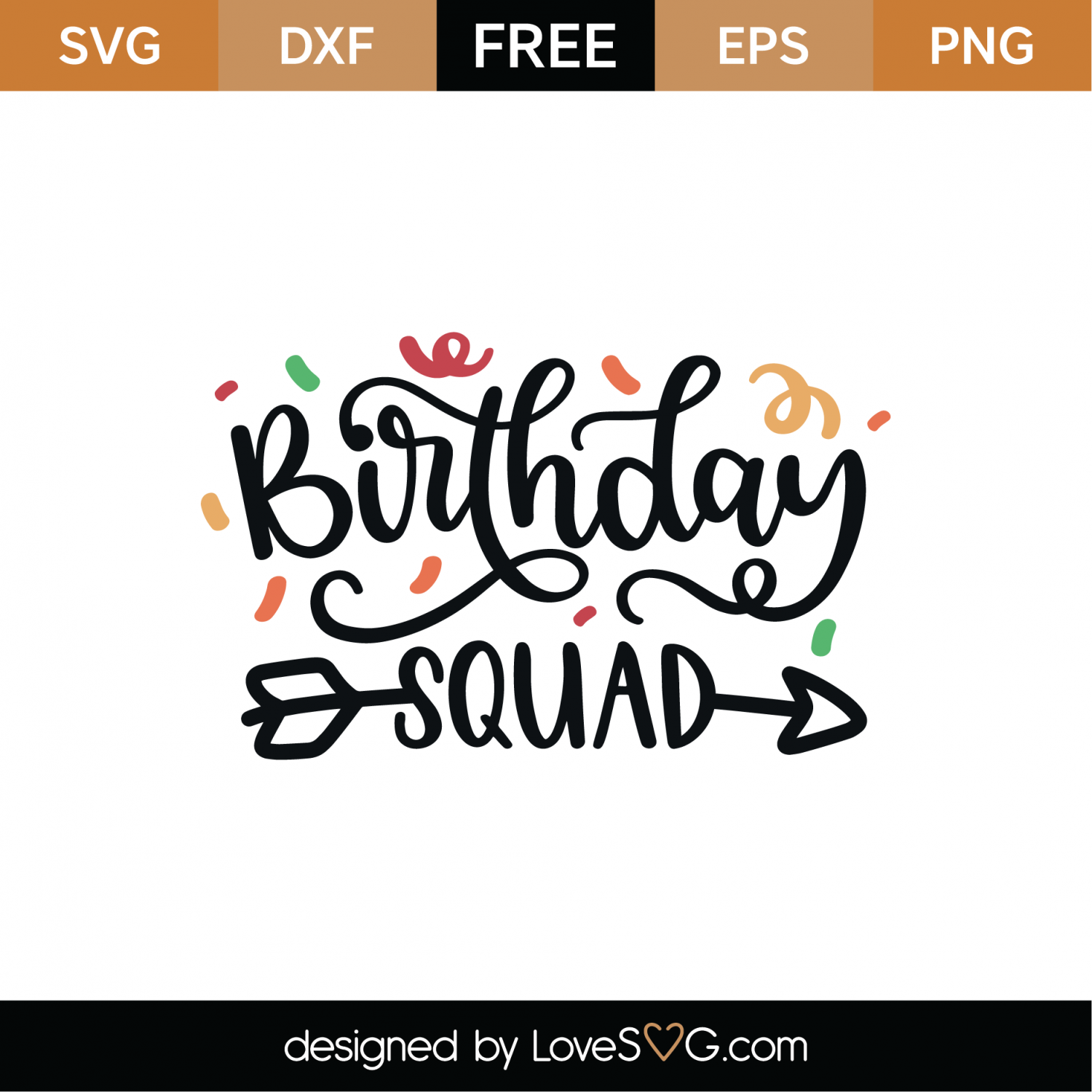 birthday squad svg #1081, Download drawings