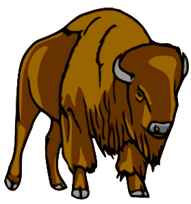 Bison clipart #2, Download drawings