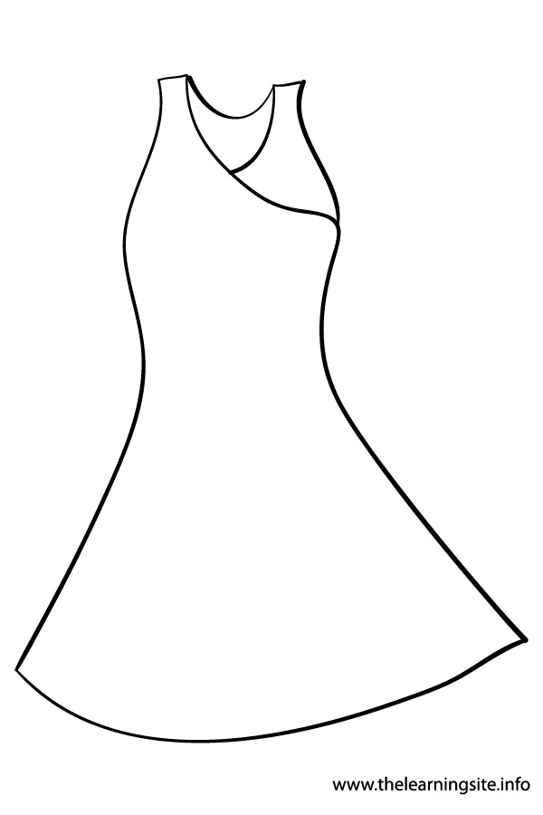 Black Dress coloring #6, Download drawings