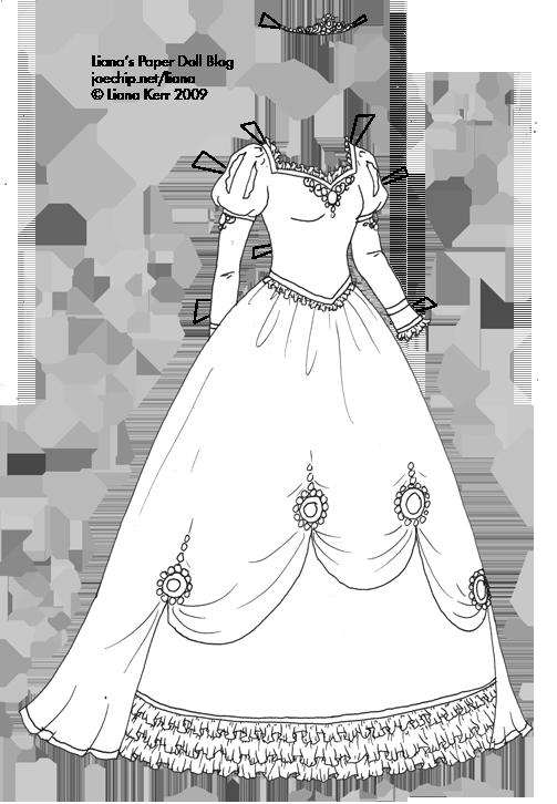 Black Dress coloring #20, Download drawings