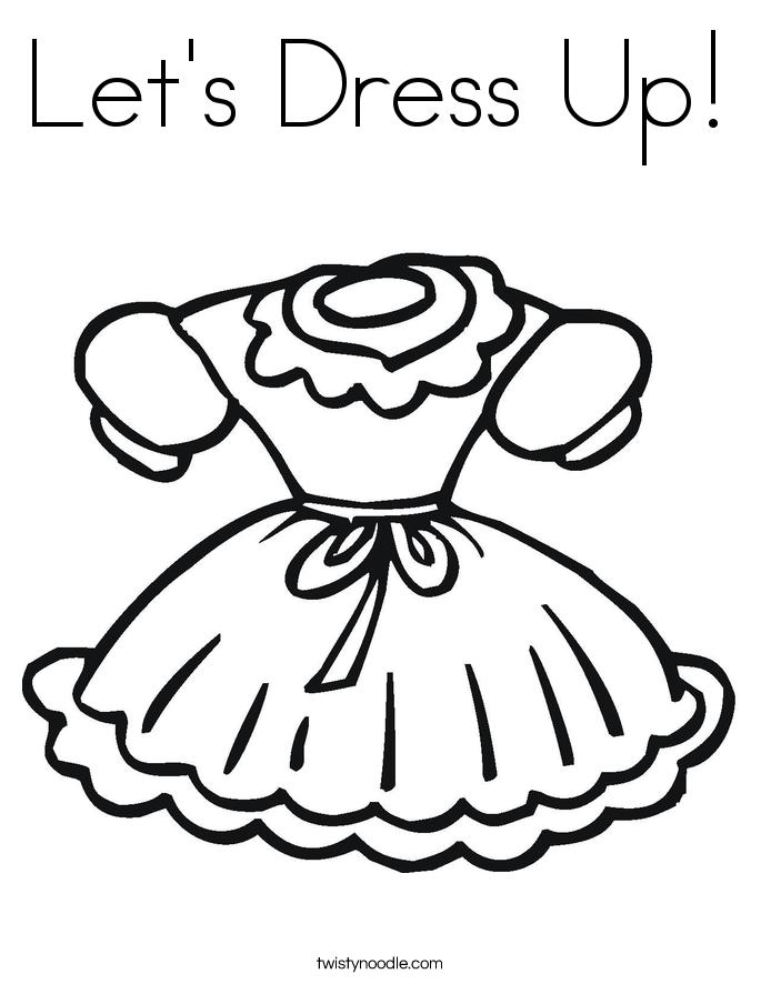 Black Dress coloring #7, Download drawings