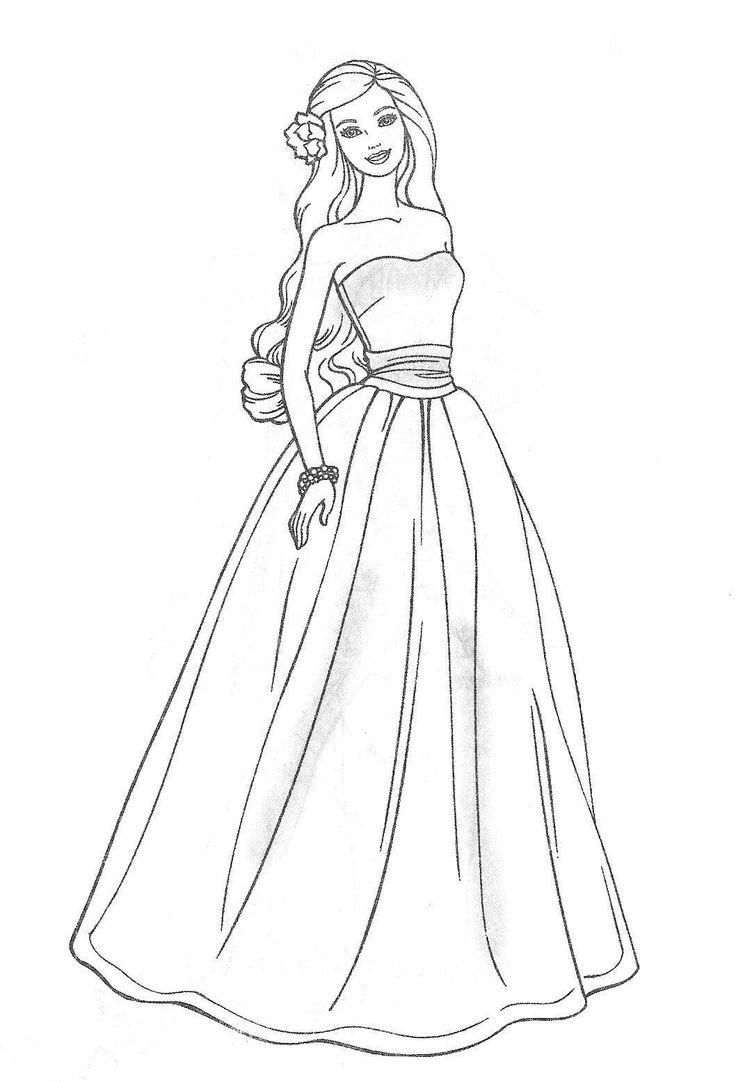 Black Dress coloring #13, Download drawings