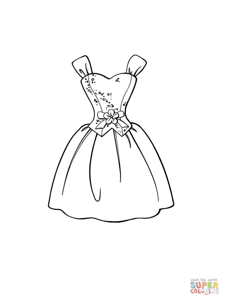 Dress coloring #17, Download drawings