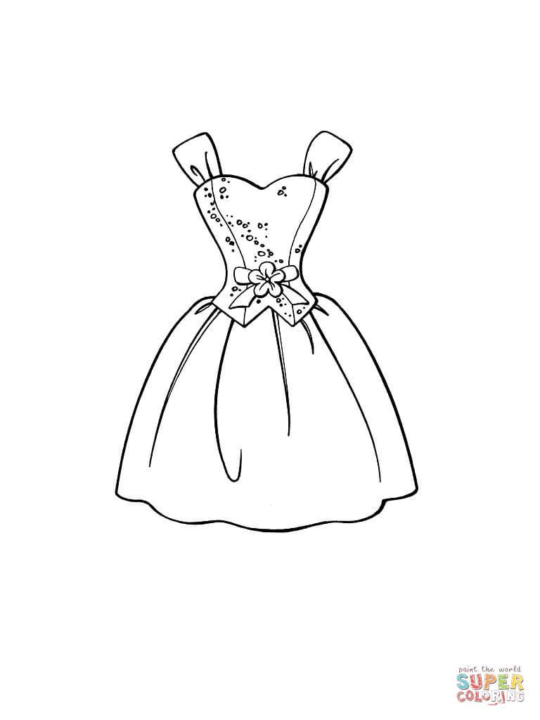 Black Dress coloring #16, Download drawings