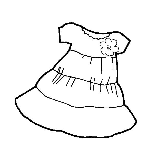 Black Dress coloring #1, Download drawings