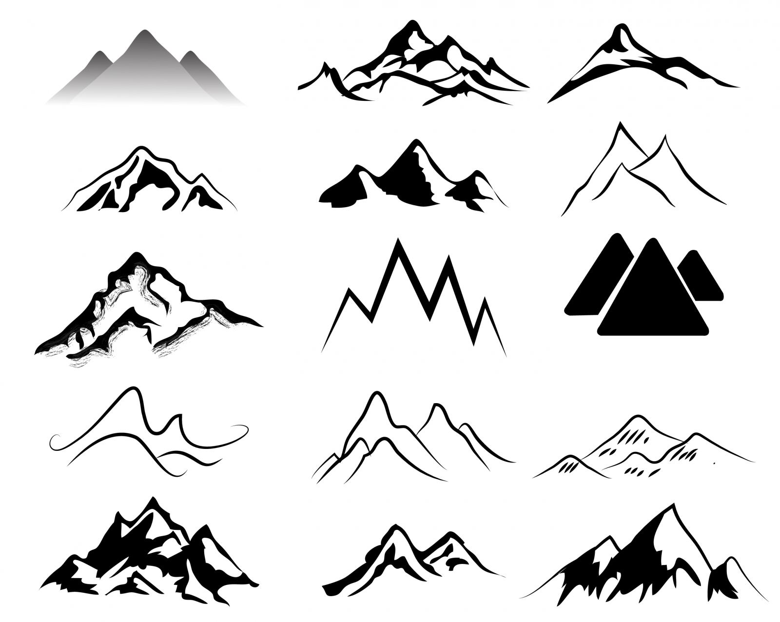 Black Mountain clipart #5, Download drawings