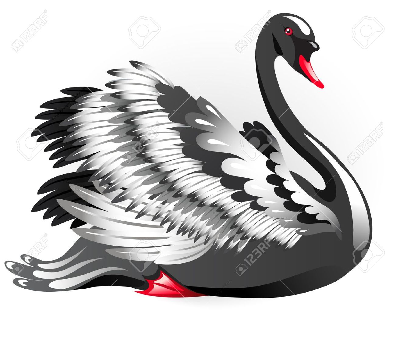 Black Swan clipart #1, Download drawings