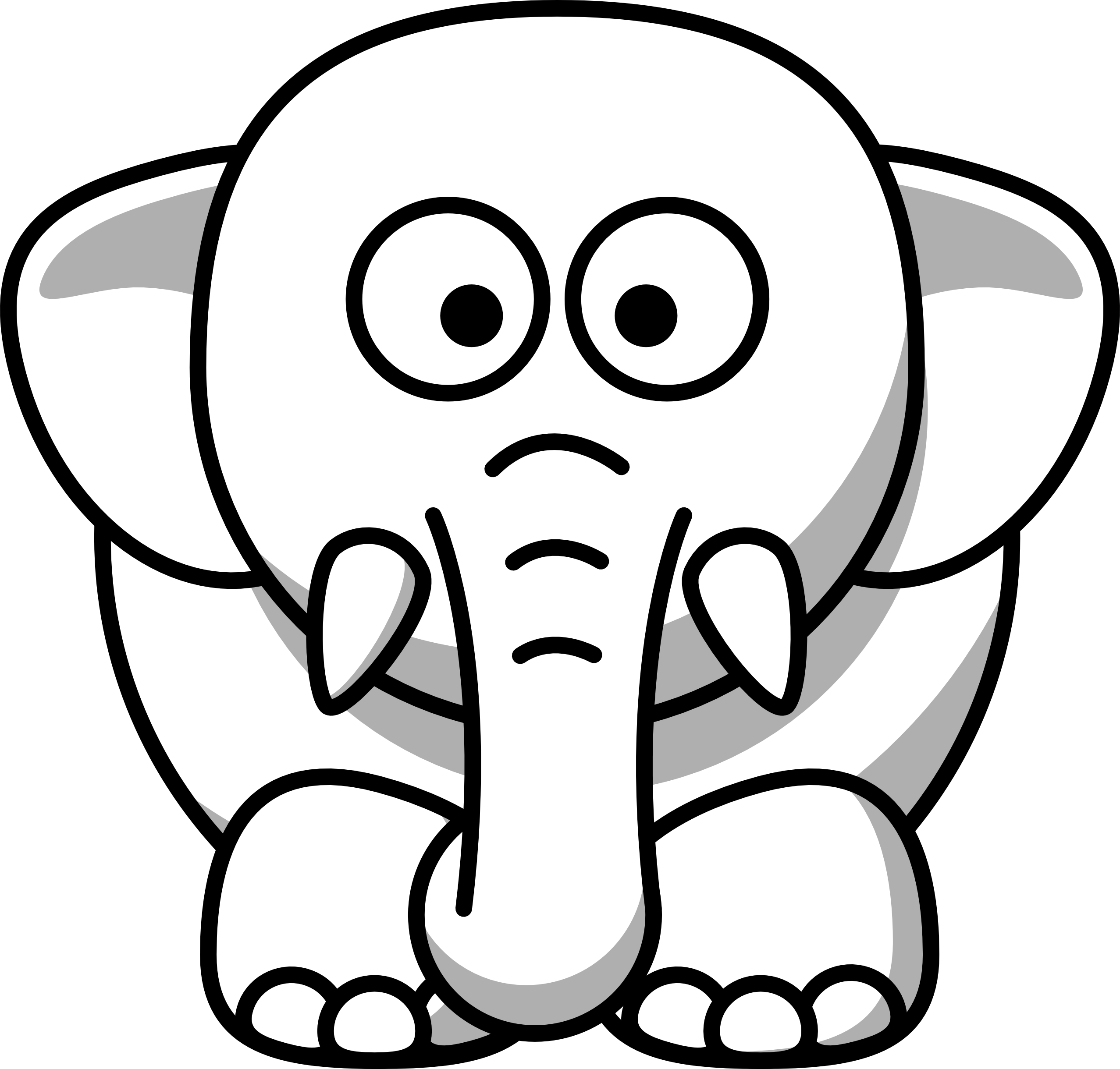 Black & White clipart #5, Download drawings