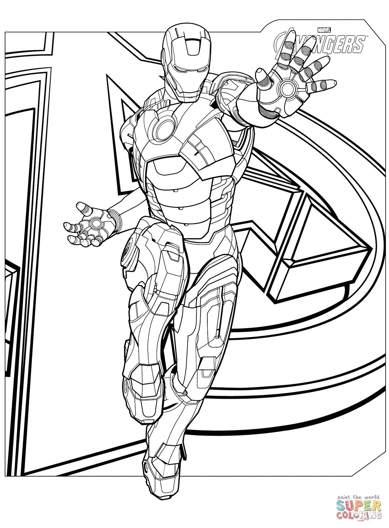 Avengers coloring #5, Download drawings