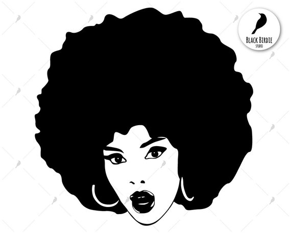black woman svg #664, Download drawings
