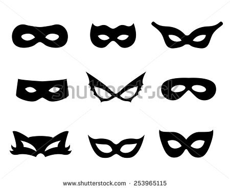 Black-masked Blackbird clipart #1, Download drawings