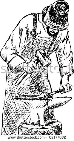 Blacksmith coloring #1, Download drawings