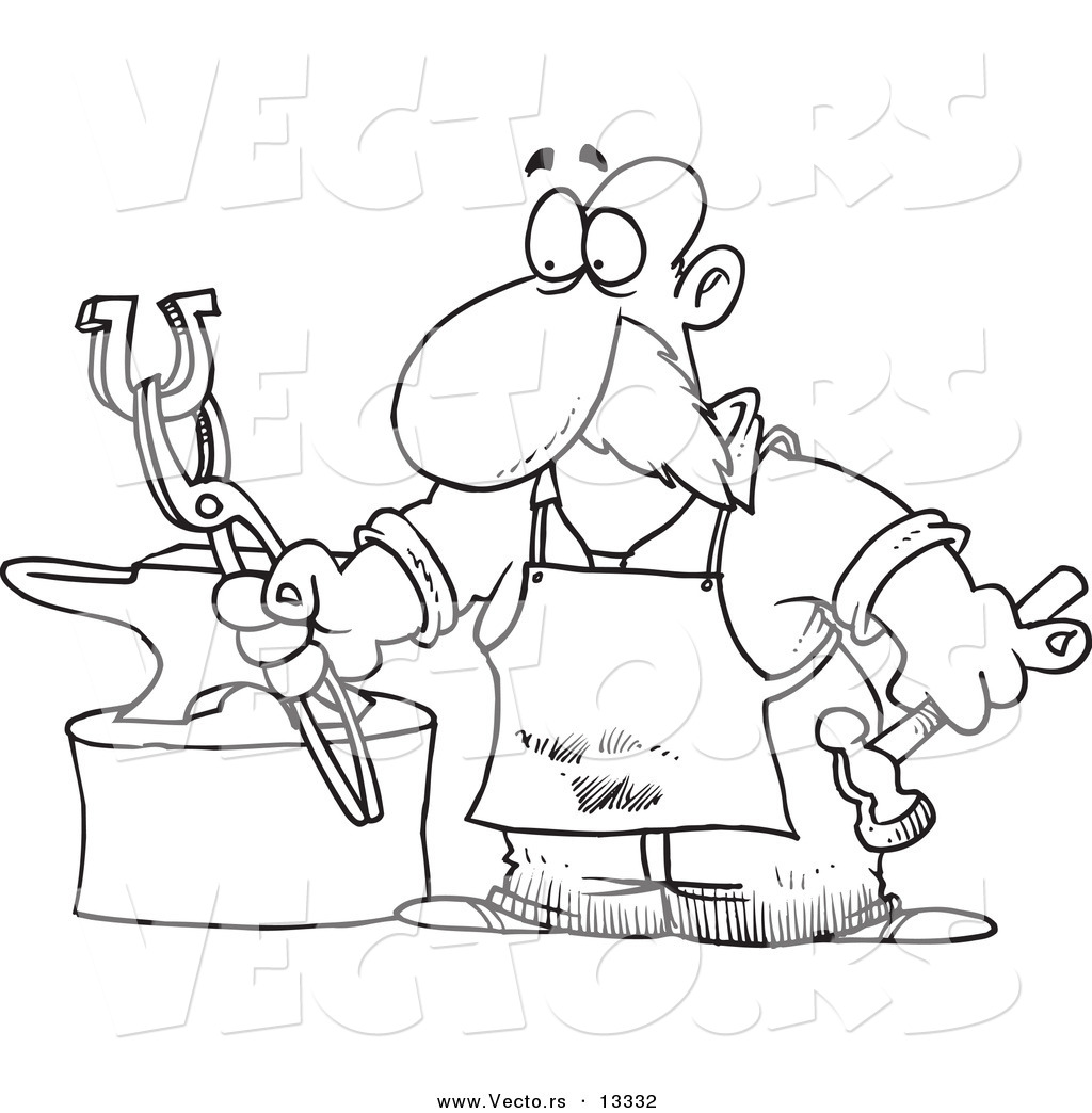 Blacksmith coloring #15, Download drawings
