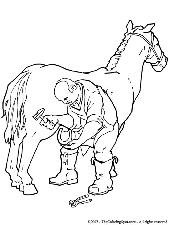 Blacksmith coloring #17, Download drawings