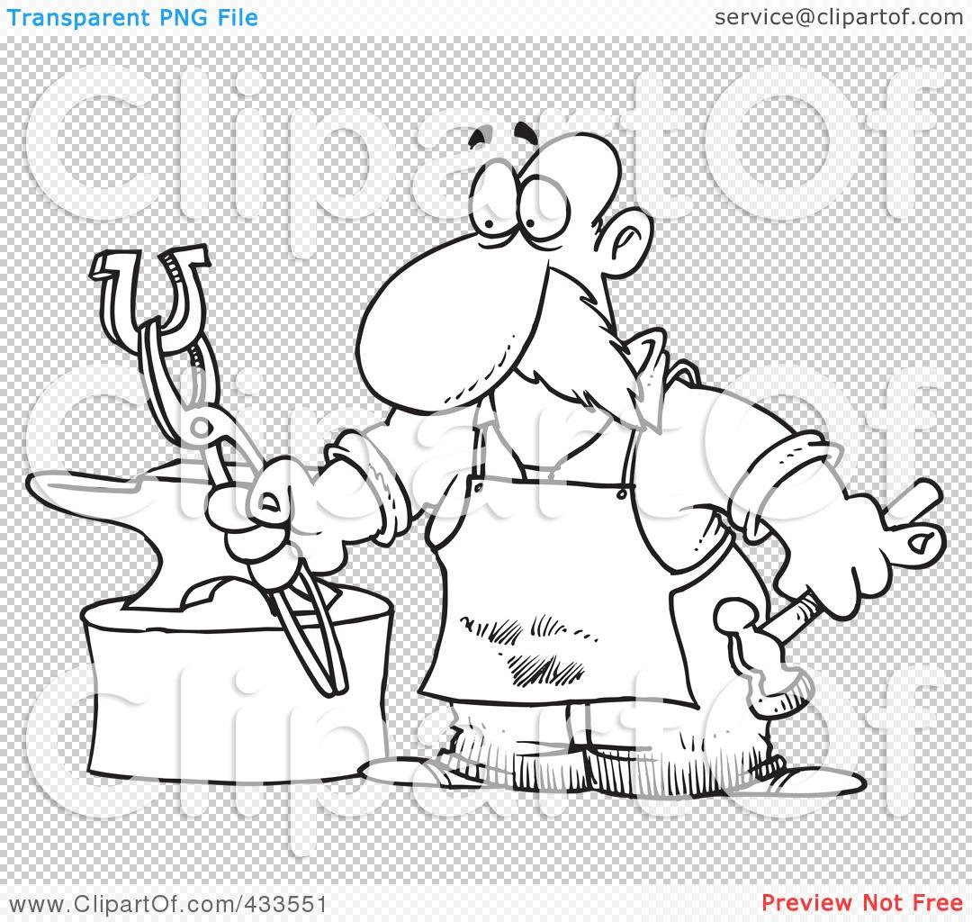 Blacksmith coloring #2, Download drawings