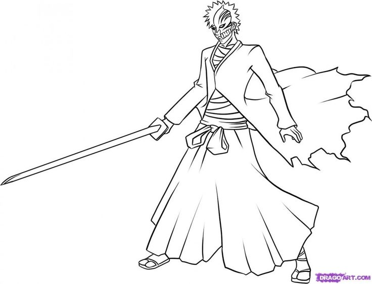 Bleach coloring #3, Download drawings