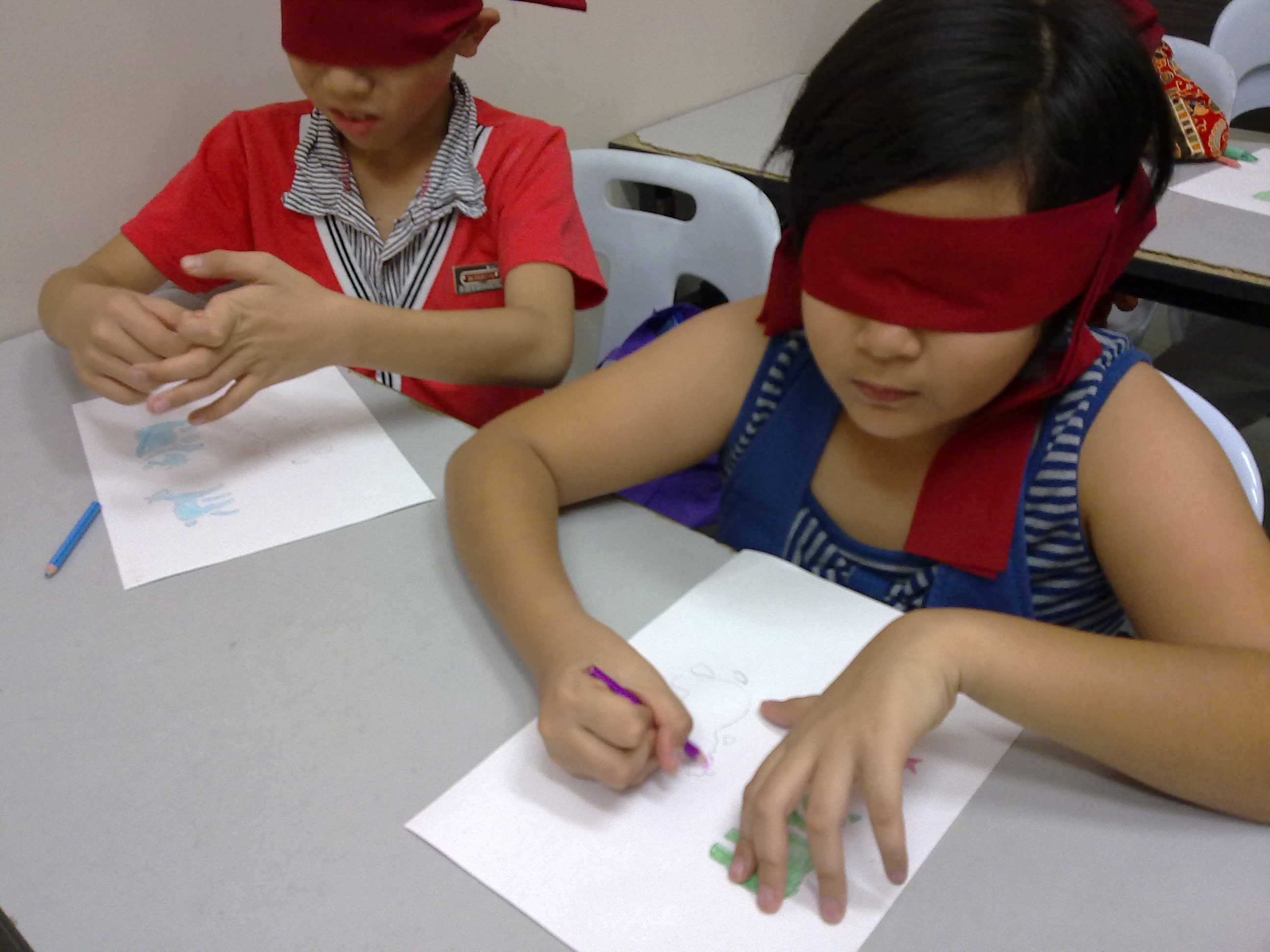 Blindfold coloring #5, Download drawings