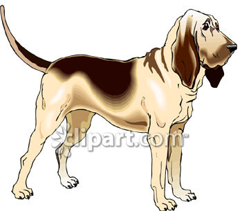 Bloodhound clipart #17, Download drawings