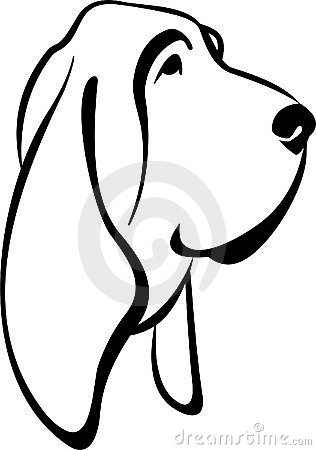 Bloodhound clipart #14, Download drawings