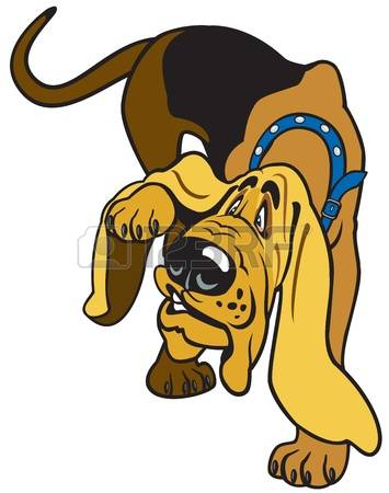 Bloodhound clipart #6, Download drawings