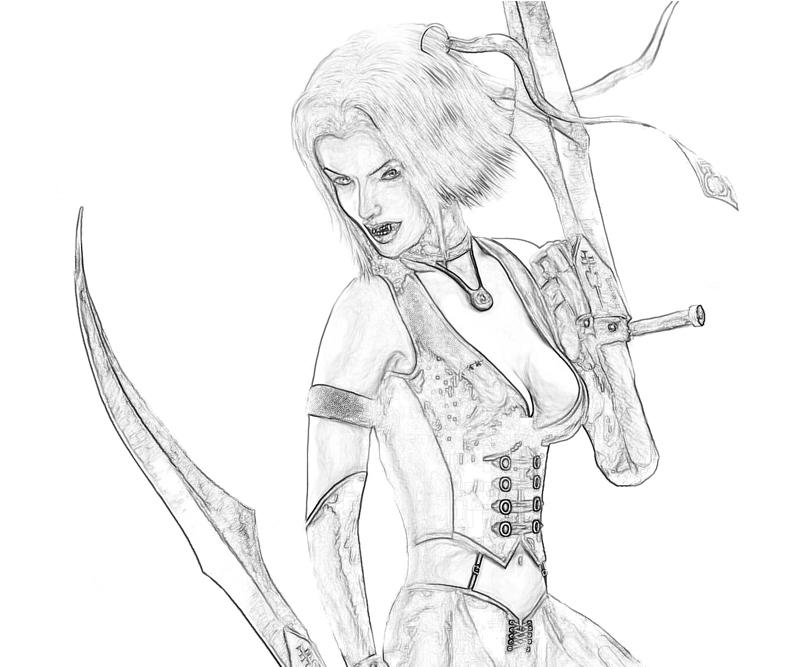 Bloodrayne coloring #20, Download drawings