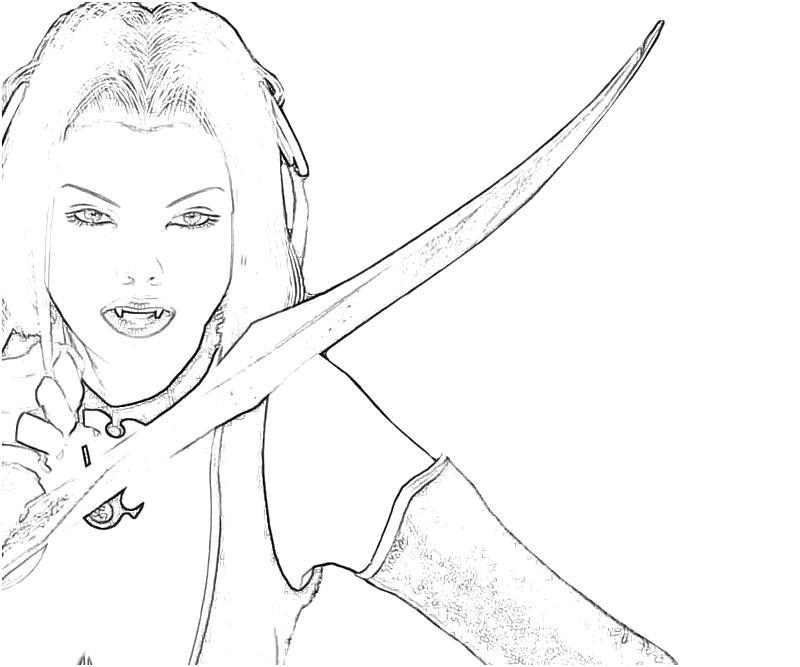Bloodrayne coloring #4, Download drawings