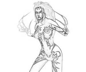 Bloodrayne coloring #17, Download drawings
