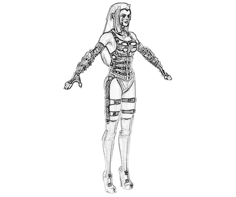 Download Bloodrayne coloring for free - Designlooter 2020