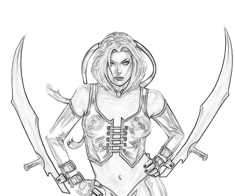 Bloodrayne coloring #2, Download drawings