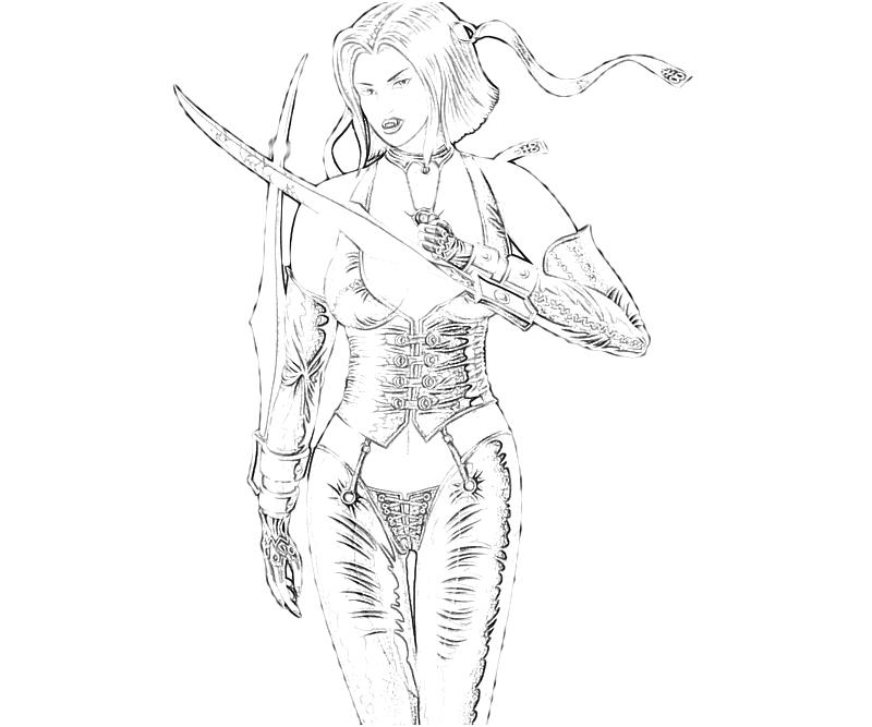 Bloodrayne coloring #6, Download drawings