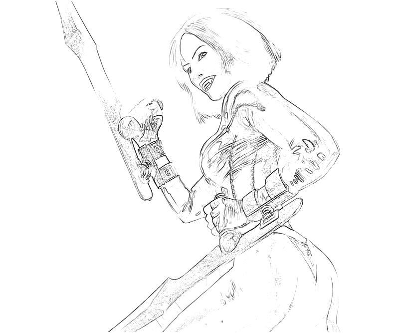 Bloodrayne coloring #19, Download drawings