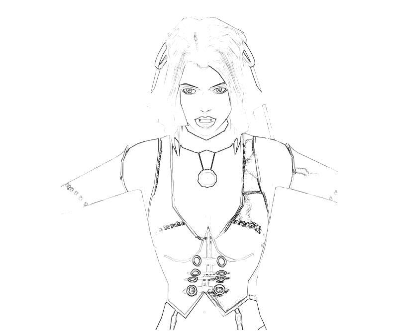 Bloodrayne coloring #15, Download drawings