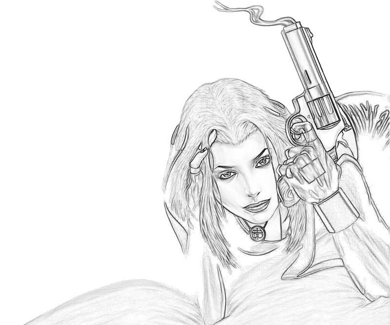 Bloodrayne coloring #14, Download drawings