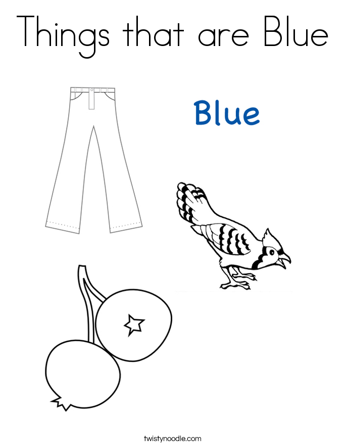 Blue coloring #4, Download drawings