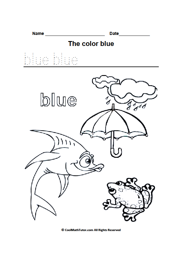 Blue coloring #15, Download drawings