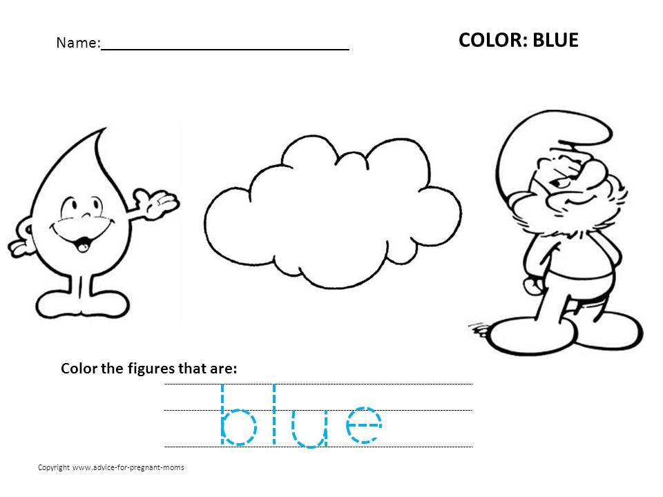 Blue coloring #16, Download drawings